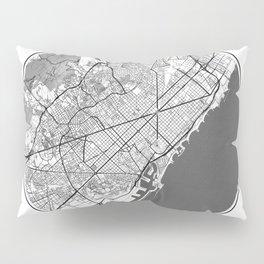 Barcelona Map Universe Pillow Sham
