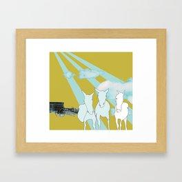 Horses. Framed Art Print