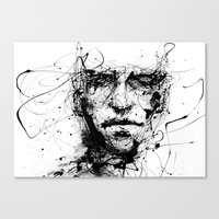 jordan Canvas Prints featuring lines hold the memories by agnes-cecile