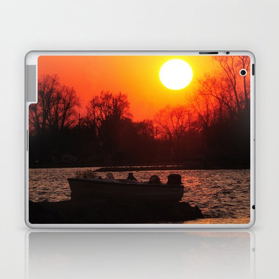 Silhouettes and Fire Laptop & iPad Skin