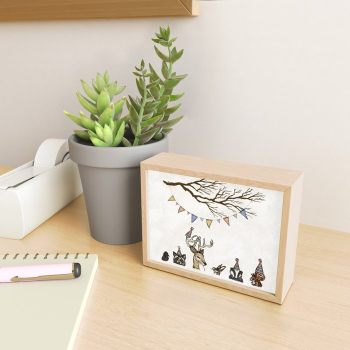 Party Animals Framed Mini Art Print