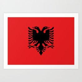 Flag of Albania - Albanian Flag Art Print