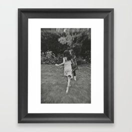 Running... Framed Art Print