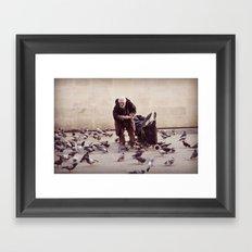 Human greatness Framed Art Print