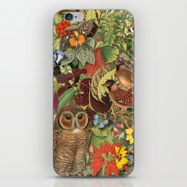 birds flowers and insects iPhone Skin