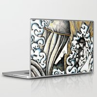 valar morghulis Laptop & iPad Skins featuring Second meeting by Anca Chelaru