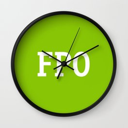 For Placement Only - FPO - Artwork (Ebay Green) Wall Clock