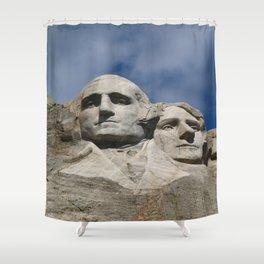 George Washington And Thomas Jefferson  - Mount Rushmore Shower Curtain