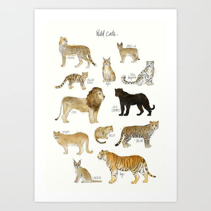 Wild Cats Kunstdrucke