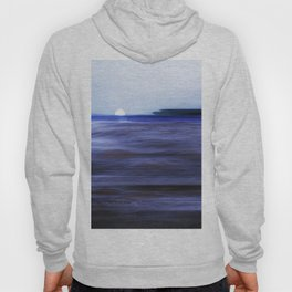 Distant Islands in the moonlight Seascape Hoody