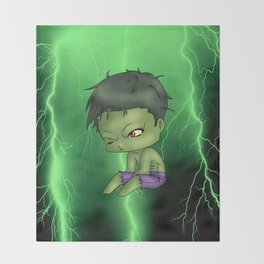 Chibi Hulk Throw Blanket