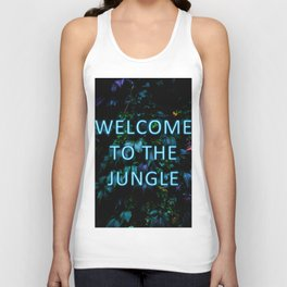 Welcome to the Jungle - Neon Typography Unisex Tank Top