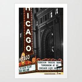 Historic Chicago Theatre Art Print