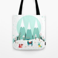 frozen Tote Bags featuring Frozen by General Design Studio