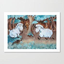 Three Leaves Clover Canvas Print
