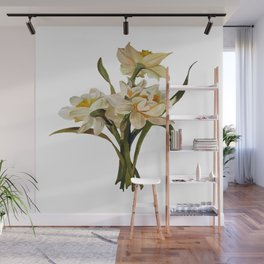 Double Narcissi Spring Flower Bouquet Wall Mural