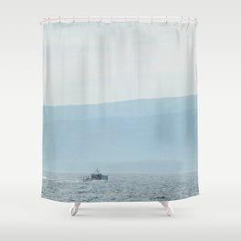 Boat & Mountain Shower Curtain