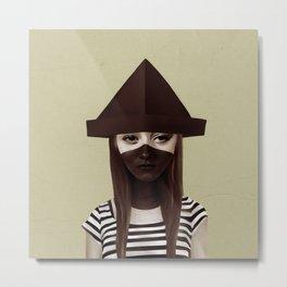 Ceci n'est pas un chapeau Metal Print