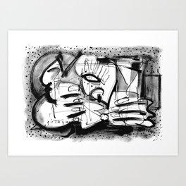 Drinker - b&w Art Print