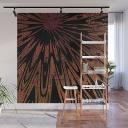 Native Tapestry in Burnt Umber Wall Mural