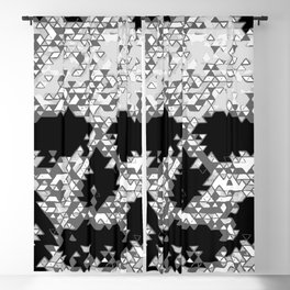 Geometric Light Grey Skull Composed Of Triangles Blackout Curtain