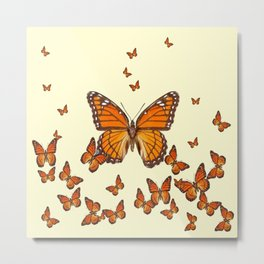 MONARCH BUTTERFLY SWARM Metal Print