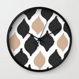 twocolors pattern Wall Clock