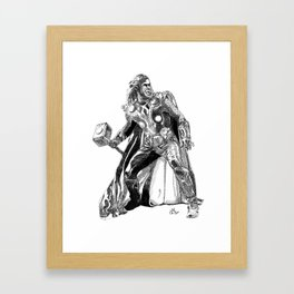 Thor (hand-drawn) Framed Art Print