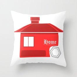 Red House Logo Style Throw Pillow