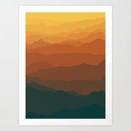 Ombré Range No. 3 Art Print