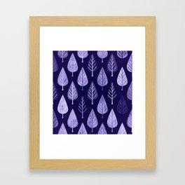 Watercolor Forest Pattern #8 Framed Art Print