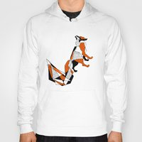 literature Hoodies featuring literature fox 2 by vasodelirium