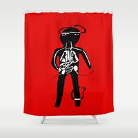 body Shower Curtains featuring body by sandra sisofo