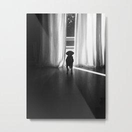 Peeking Out - Noir Metal Print