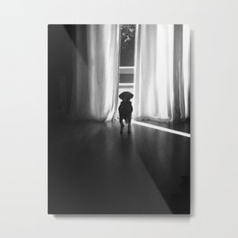 Peeking Out - Noir Metal Print