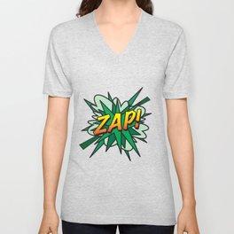 Comic Book ZAP! Unisex V-Neck