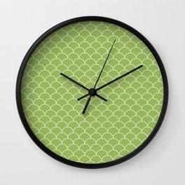 Escamas greenery Wall Clock