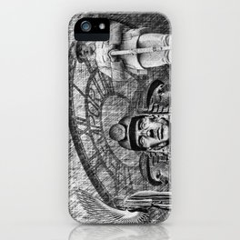 Landmarks 2 Black And White iPhone Case