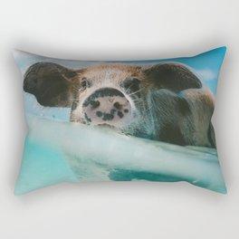 Pig in water Rectangular Pillow