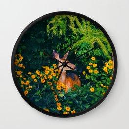 Garden Deer Wall Clock