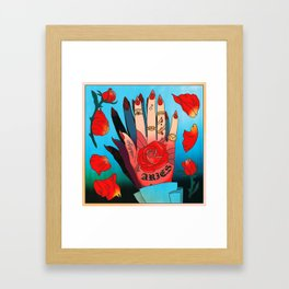 Aries Hand Framed Art Print