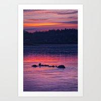 Susquehanna Sunset Art Print