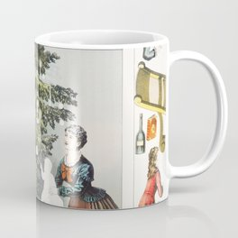 Pastime for Little Fingers-The Christmas Tree (1881) by Pastime Publishing Co Coffee Mug