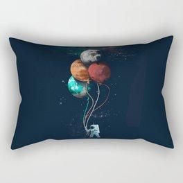 Astronauts and Planet Balloon Rectangular Pillow