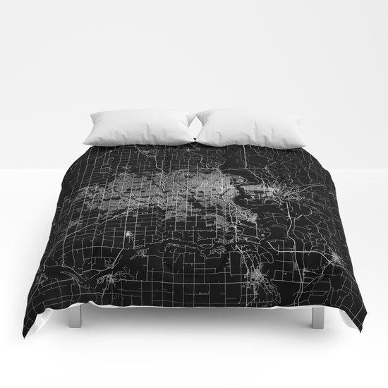 omaha map nebraska Comforters