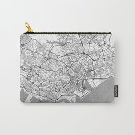 Singapore Map Line Carry-All Pouch