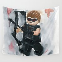 avenger Wall Tapestries featuring Avenger Lego by Toys 'R' Art