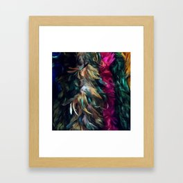 Girls Night Out Feather Boas Framed Art Print