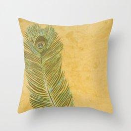 Peacock Batik Throw Pillow