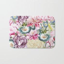 Vintage & Shabby chic -  Retro Spring Flower Pattern Bath Mat